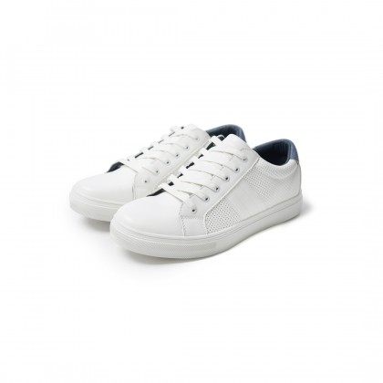 High Cultured Classic Tennis Vegan Leather Sneakers | White - 343